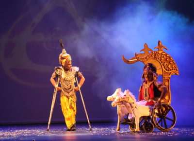 BHAGVAD GITA ON WHEELCHAIRS