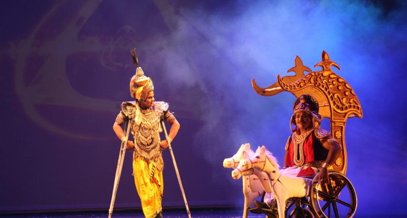 BHAGVAD GITA ON WHEELCHAIRS